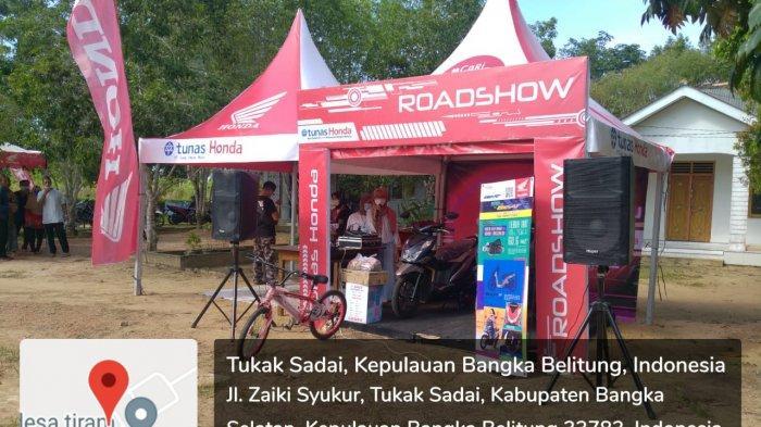 Gebyar Vaksin, Kolaborasi Honda ASP Toboali, Polsek Toboali, dan Puskesmas Desa Tiram yang diselenggarakan di Kantor Desa Tiram, (24/09).