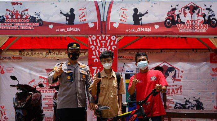Gebyar Vaksin di Bangka Selatan Bersama Honda Babel Peduli