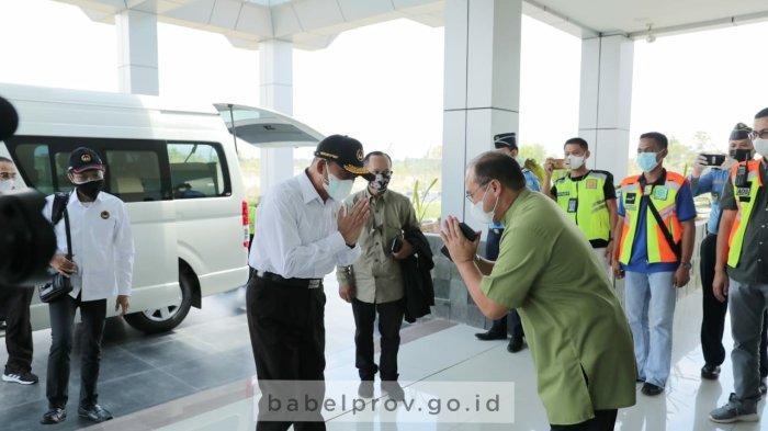 Tiba di Pangkalpinang, Menko PMK Muhadjir Effendy Langsung Rapat dengan Gubernur Bangka Belitung