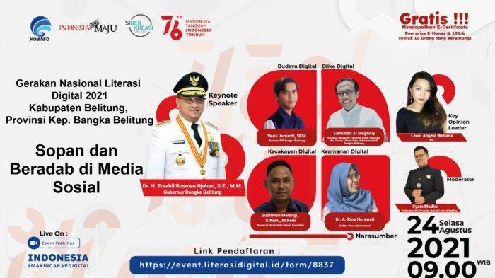 Literasi Digital di Belitung Ajak Peserta Pahami Batasan Kebebasan di Dunia Digital
