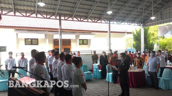 Pelantikan pengurus Pertina Kabupaten Bangka masa jabatan 2021-2025 di rumah dinas Ketua DPRD Bangka, Sabtu (25/9/2021) sore.