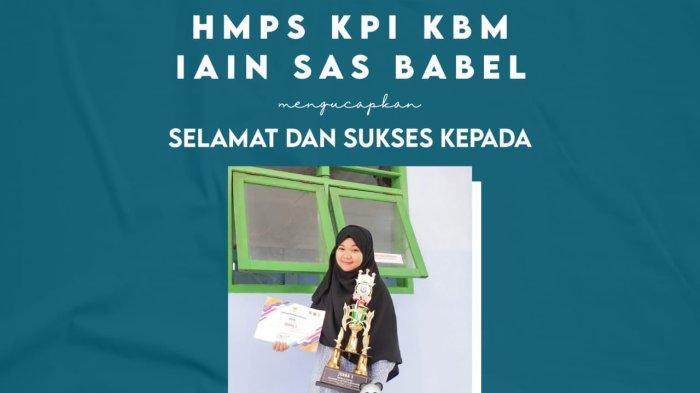Dua Mahasiswa KPI IAIN SAS Bangka Belitung Kembali Meraih Prestasi