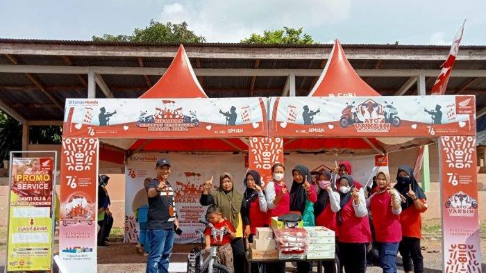 Roadshow Senam Sehat Bersama Honda yang di laksanakan di Lapangan Bola Desa Payung, Kecamatan Payung (24/09).