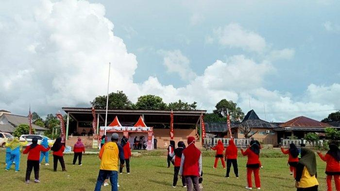 Senam Sehat Bersama Honda TDM Payung di Desa Payung