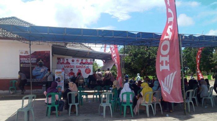 TDM Payung Support Vaksinasi di Puskesmas Kecamatan Pulaubesar