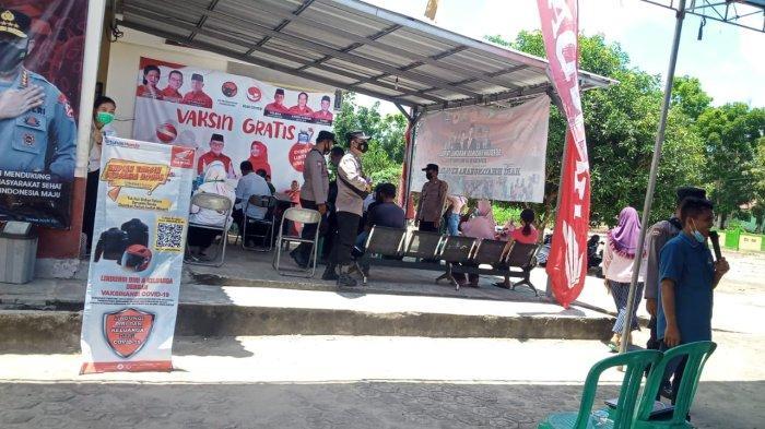 TDM Payung Support Vaksinasi di Puskesmas Kecamatan Pulau Besar (Rabu, 22/09/21)