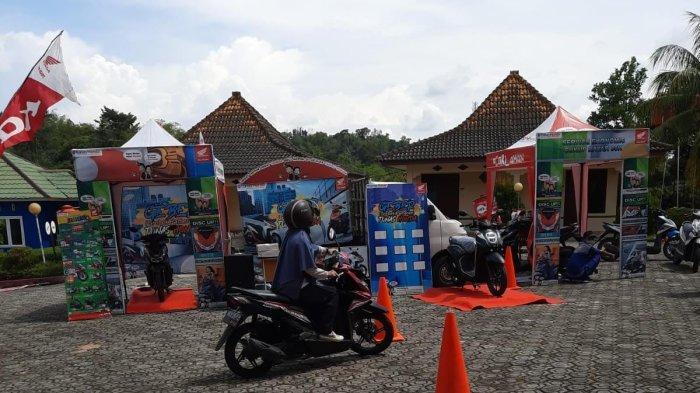 Ridding Test motor Honda - Roadshow GEBER (Grebek Pameran) khususnya Para Pelajar dan Guru yang berada di SMK 3 pangkal pinang