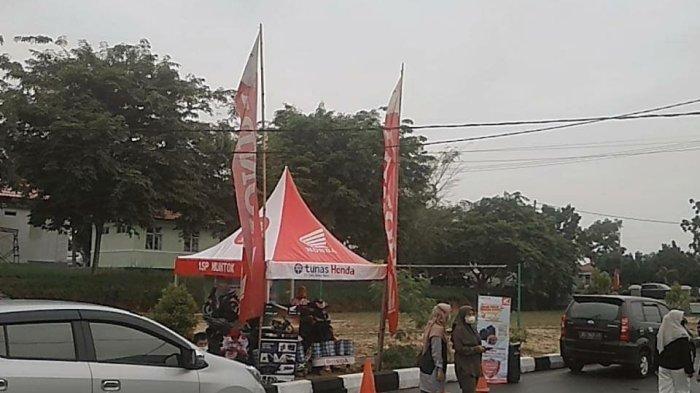 Dealer Honda PT. Asia Surya Perkasa (ASP) cabang Muntok melakukan kegiatan vaksin bersama Kodim 0431 Bangka Barat di Halaman Kodim Bangka Barat.