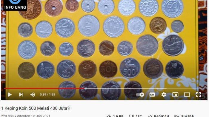 Buruan, 36 Uang Koin 1945 Sampai 2016 Termasuk Rp500 Gambar Melati Punya Pria Ini Dijual Rp200 Ribu