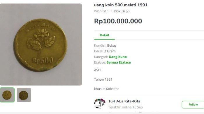 Uang Koin Rp 500 Bunga Melati