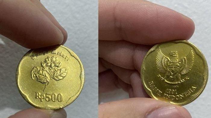 Uang Koin Rp500 Gambar Bunga Melati Dijual Rp100 Juta Karena Terbuat dari Emas? Ini Faktanya