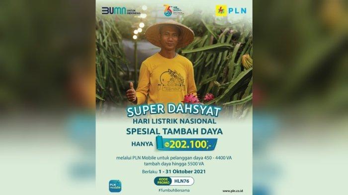 Super Dahsyat Hari Listrik Nasional Spesial, Tambah Daya Cuma Rp202.100