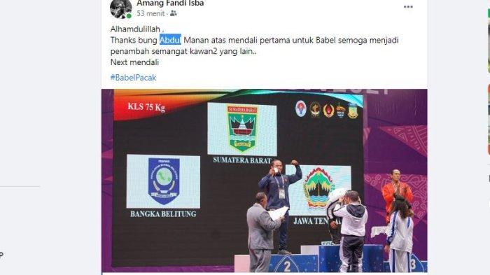 Bangka Belitung Raih Medali Pertama PON XX Papua 2021, Lihat Video Aksi Abdul Manan Raih Perak