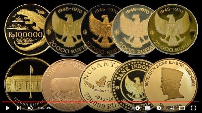 DAFTAR Uang Koin Emas Bernilai Mahal dan Diakui Bank Indonesia, Cek Koleksimu