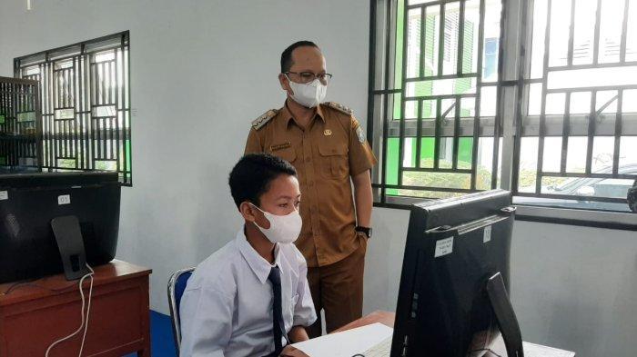 Sarana dan Prasana Lengkap, Asesmen Nasional SMP  di Bangka Tengah Lancar