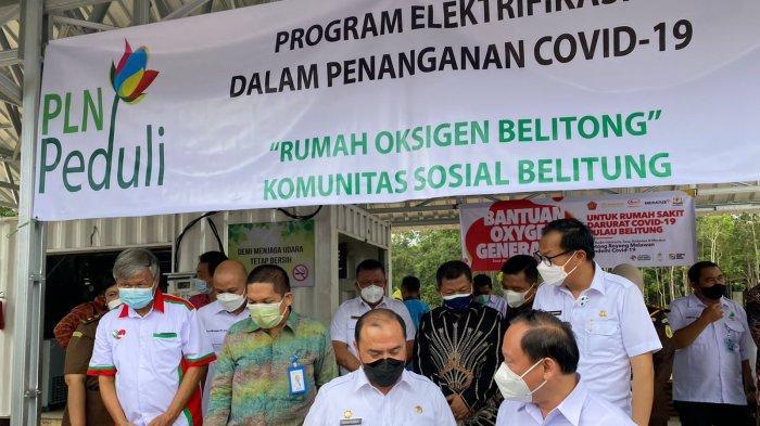 PLN Salurkan Bantuan Elektrifikasi Rumah Oksigen di Belitong