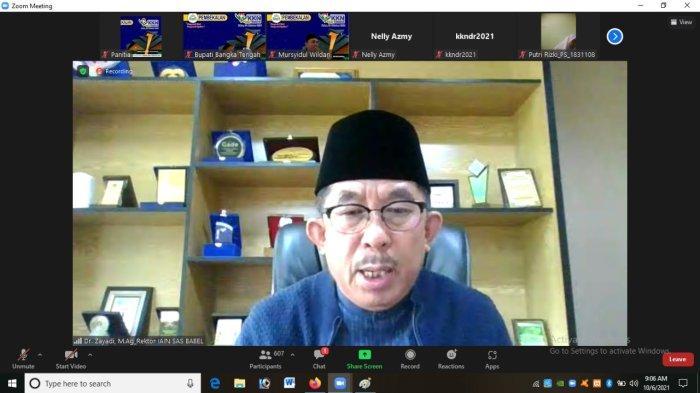 709 Mahasiswa IAIN SAS Bangka Belitung Ikuti Pembekalan KKN Secara Virtual