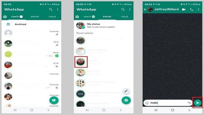 Tampilan baru di aplikasi WhatsApp Android