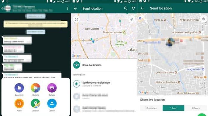 Cara Membagikan Lokasi Langsung di WhatsApp
