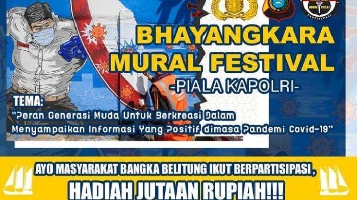 Polda Bangka Belitung Gelar Bhayangkara Mural Festival 2021, Pemenang Ikut Lomba ke Mabes Polri