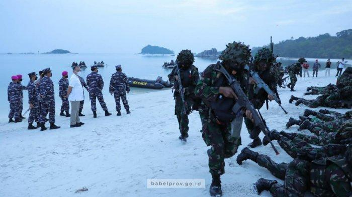 TNI AL Laksanakan Latihan Ratsus di Pulau Belitung