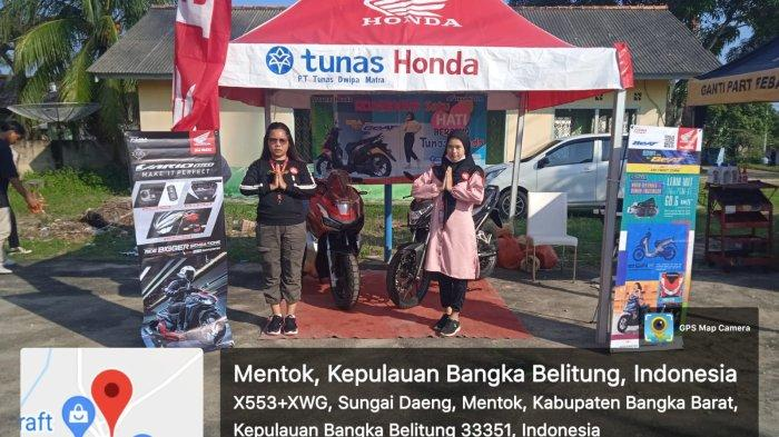 Dealer Honda PT. Asia Surya Perkasa (ASP) cabang Muntok menggelar Roadshow senam sehat bersama Honda di desa Air Samak.