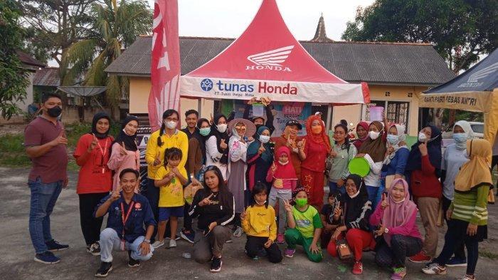 Dealer Honda ASP Muntok Gelar Roadshow Senam Sehat Bersama Honda di Desa Air Samak
