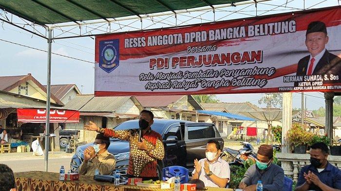 Ketua DPRD Bangka Belitung Tampung 5 Keluh Kesah Masyarakat Desa Nibung Saat Reses