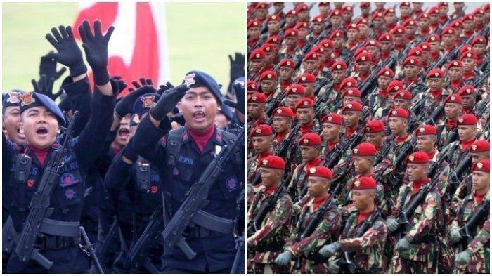 Ilustrasi Prajurit TNI dan Polisi.