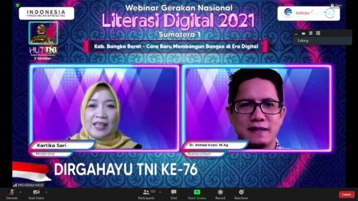 Dosen IAIN SAS Babel Narasumber Webinar Literasi Digital di Bangka Barat