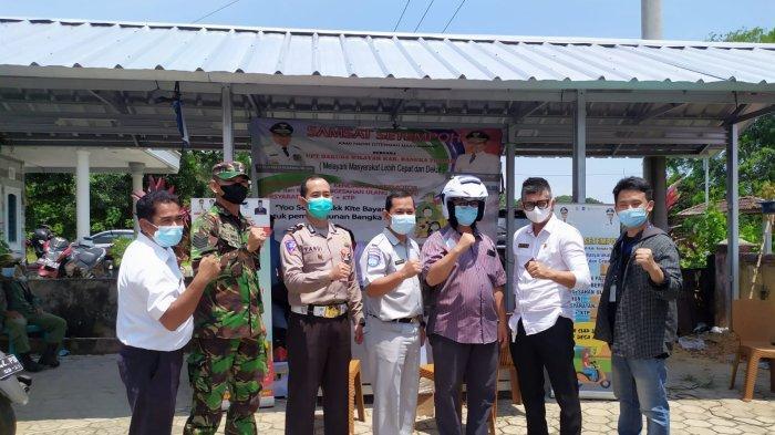 Kolaborasi Satu Hati Honda Bersama Instansi Pemerintah di Desa Kayu Besi