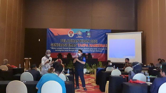 Cegah Bahaya Narkoba, Disparbudkepora Babel Gelar Pelatihan KIPAN Pada 28 Pemuda Bangka Tengah