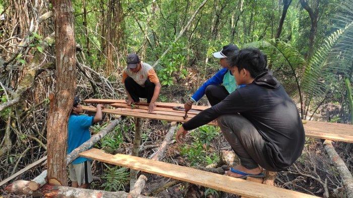 Mahasiswa KKN UBB Bangun Lima Spot Foto di Wisata Sejarah Kota Kapur