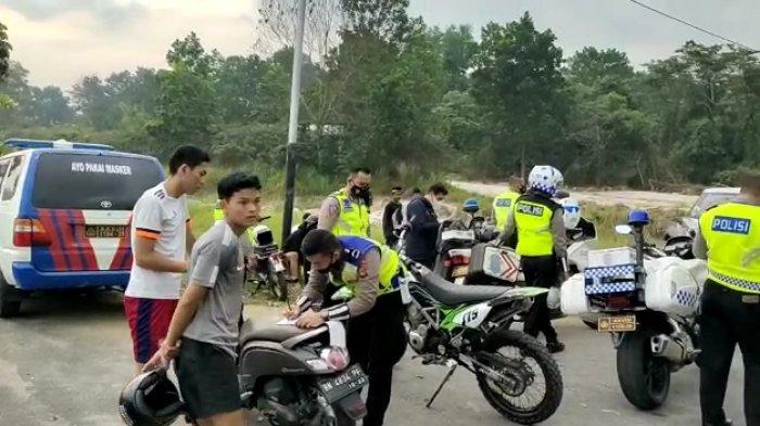 Polres Pangkalpinang Tindak Tegas 40 Motor Balap Liar Ditilang Sebulan, Pemilik Harus Bawa Orang Tua