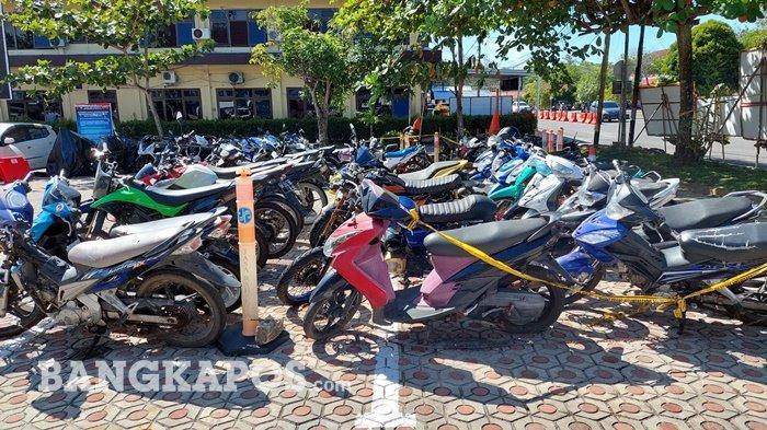 Ditlantas Polda Babel Sita Motor Berknalpot Brong, Razia di Jalan Raya Terus Dilakukan