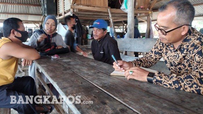 Ketua Fraksi Gerindra DPRD Kabupaten Bangka, M Taufik Koryanto mendatangi dan menemui para nelayan yang tergabung dalam Kesatuan Nelayan Tradisional Pesisir Matras (KNTPM) untuk menyerap atau menjaring aspirasi dan keluhan para nelayan terhadap operasional Kapal Isap Produksi (KIP) di perairan laut kawasan itu, Selasa (16/02/2021)