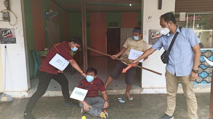 Polres Bangka Selatan Gelar Rekonstruksi Pengeroyokan yang Menewaskan Marvierli di Desa Bencah
