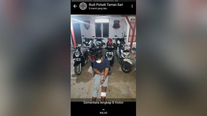 Tim Naga Polres Pangkalpinang amankan pelaku spesialis curanmor di Kota Pangkalpinang, Senin (22/2/2021)