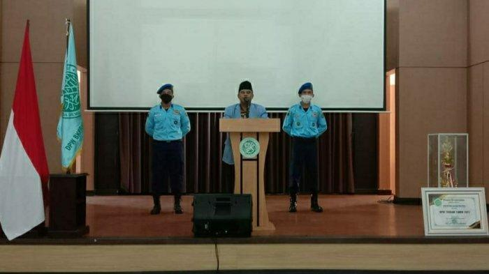 Ketua Umum DPW BKPRMI Provinsi Babel saat memberikan sambutan kepada para hadirin ajang Festival Anak Sholeh Indonesia (FASI) ke-XI Tingkat Provinsi Bangka Belitung