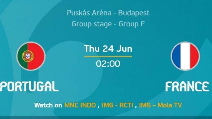 Euro 2020: Prediksi Portugal Vs Prancis, Tanding Kamis 24 Juni Dini Hari, Line Up, dan Prediksi Skor