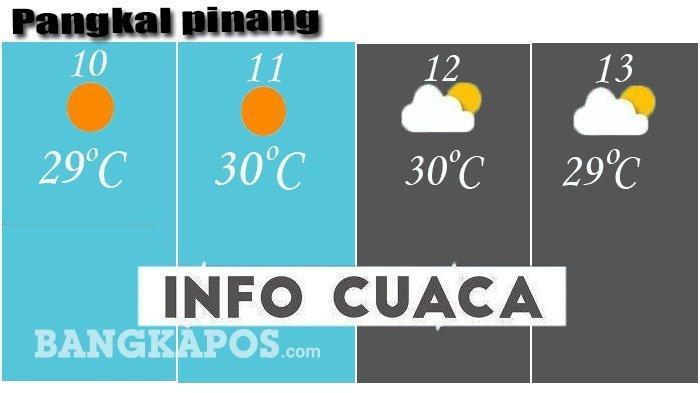 CUACA EKSTREM Intai Pangkalpinang dan Belitung Timur 3 Hari ke Depan, Ini Prediksi BMKG