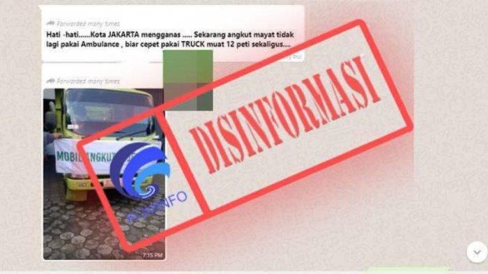 Heboh Mobil Truk Angkutan Jenazah Covid-19 DKI Jakarta, Fakta Ini Sebenarnya yang Terjadi