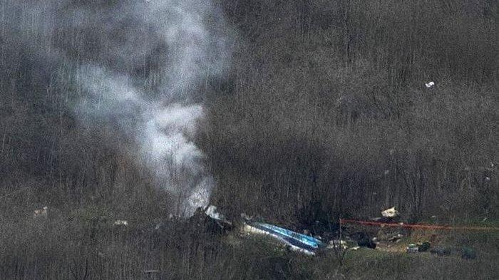 Video Diduga Helikopter yang Ditumpangi Kobe Bryant Jatuh di California