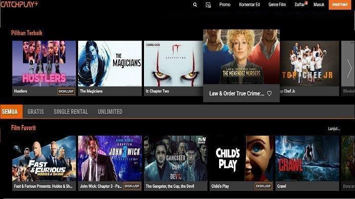 Film yang bisa diunduh di situs film streaming Catchplay.