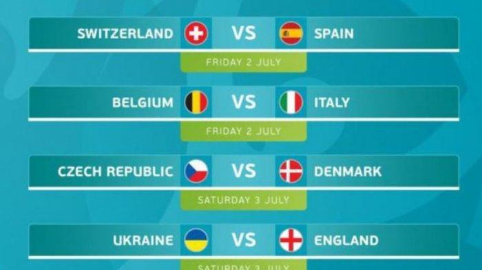 Jadwal Perempat Final EURO 2020, Belgia atau Italia Bakal Melawan Swiss atau Spanyol, Kalau Inggris?
