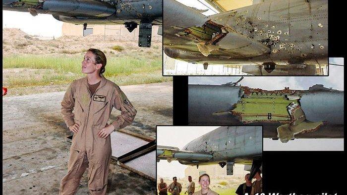 Kim Campbell, pilot wanita yang bawa pesawat A-10 'babi hutan' dalam keadaan rusak berat
