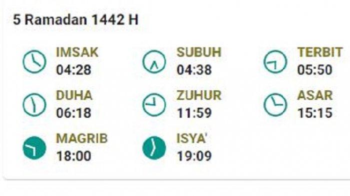 Jadwal Imsak dan Buka Puasa 5 Ramadhan di Pangkalpinang, Sabtu 17 April 2021