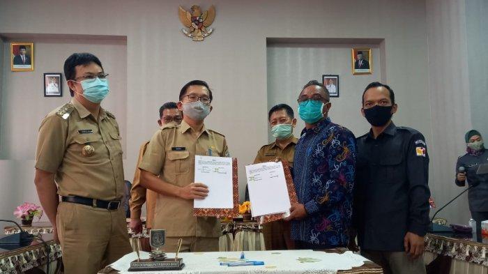 Antisipasi Covid-19 di Pilkada, GTPPC, Dinkes, KPU dan Bawaslu Bangka Barat Teken MoU