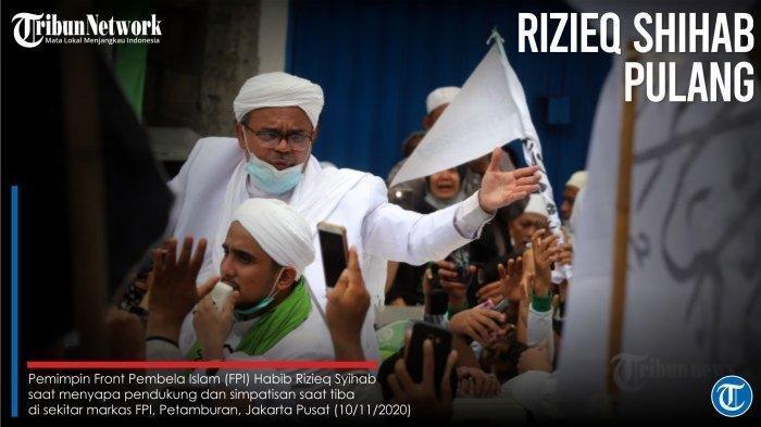Ada Isu Habib Rizieq Positif Corona, Polisi Tunggu Itikad Baik HRS untuk Swab Test Hingga Selasa