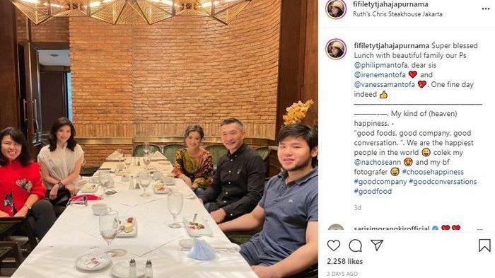 Adik kandung Ahok makan bersama keluarga Vanessa Mantofa dan Nicholas Sean
